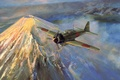 Картинка a6m, painting art, ww2, zero, war, japanese aircraft
