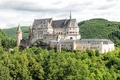 Картинка Люксембург, Vianden, Вианден, Diekirch, Luxembourg, замок, Vianden Castle, лес