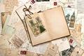 Картинка vintage, марки, строки, открытки, письма, старая бумага, памятники, винтаж