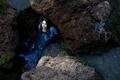 Картинка русалка, вода, девушка, камни