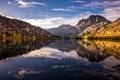 Картинка деревья, озеро, отражение, горы, природа