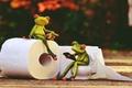 Картинка vintage, rendering, frog, paper, toilet, style, animals