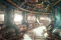 Картинка иллюминаторы, провода, планеты, корабль, арт