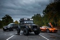 Картинка Jaguar, три, Land Rover, Defender, C-X75, 2015, 007 Spectre