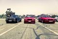 Картинка street, red, E34, E30, 3 серия, красные. черная, бмв, улица, black, 325i, трио, BMW