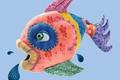 Картинка Рыбка, лоскутки, fish, губки