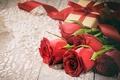 Картинка valentine's day, цветы, лепестки, любовь, розы