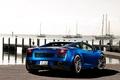 Картинка Lamborghini, ламборгини, Gallardo, blue, яхты, причал, ламборджини, небо, галлардо, синий, задняя часть