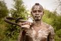 Картинка Omo wally, Ethiopia, Mursi warrior