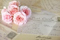 Картинка цветы, открытки, розовые, письма, розы, винтаж