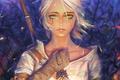 Картинка Цири, Ведьмак 3: Дикая Охота, The Witcher 3: Wild Hunt, CD Projekt RED, Cirilla Fiona ...