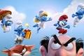 Картинка cinema, animation, gnome, girl, sky, dress, hat, neko, blue, eyes, cloud, cat, old, boy, movie, ...