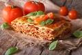 Картинка зелень, помидоры, блюдо, Lasagna, Лазанья