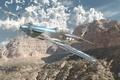 Картинка War Thunder, ВВС Америки, Арт, mustang, истребитель, p51, hibikirus, американский, P-51D, небо, облака