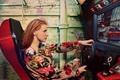 Картинка Porter, руль, кресло, фотограф, рыжеволосая, журнал, Ryan McGinley, модель, актриса, гонки, Джессика Честейн, Jessica Chastain, ...