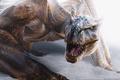Картинка Дракон, Зубы, Снег