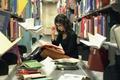 Картинка книги, девушка, библиотека