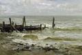Картинка причал, Карлос де Хаэс, морской пейзаж, Море в Виллервиле