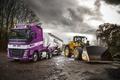 Картинка Volvo, грузовик, вольво, цистерна, 6x2, спецтехника, FH 500, экскаватор-погрузчик