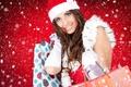 Картинка Winter female, новый год, снег, девушка, подарки
